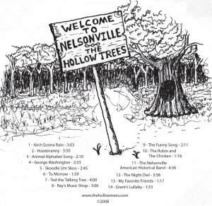 Welcome to Nelsonville by The Hollow Trees -CD design